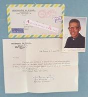 BRESIL - PARAIBA - José Maria PIRES 1981 Joao Pessoa Evêque Bishop Letter + Photo Autograph - France Brasil Brazil - Autographes