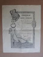 MILITARIA - CERTIFICAT DE BONNE CONDUITE AU CAPORAL CHABRILLAT , 9 EME REGIMENT DE ZOUAVES - Documenti Storici