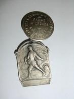 Médaille Comice Agricole De Verviers 1907 Boutonnière Avec 2 Maillons (fabrt Ordres Fischs Bruxelles) - Professionals / Firms