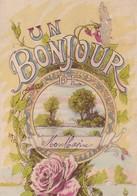34 / UN BONJOUR DE MONTBAZIN / /CIRC 1912 - Other Municipalities