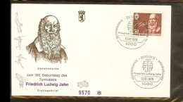 1978 - Berlin (West) FDC Mi. 570 (1) - Sport - Gymnastics - 200. Geburtstag Friedrich Ludwig Jahn - Turnvater [PB04_202] - [5] Berlijn
