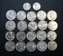 Thailand Coin 1 Baht Completed Set Of 22 UNC - Thailand