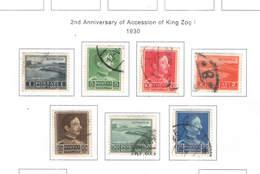 Albania PO 1930 2 Ann.King Zog.1 .Scott.250/256+See Scan On Scott.Page - Albania
