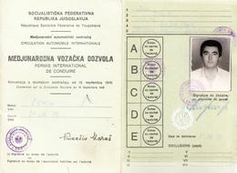 INTERNATIONAL DRIVER LICENCE,PERMIS DE CONDUIRE-YUGOSLAVIA 1979 - Documenti Storici