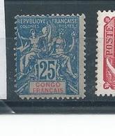 CONGO N°44 * T.b Manque 1dent - Unused Stamps
