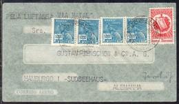 Brasil (Ceara) To Germany (Hamburg), 1936, Air Mail Cover Via Natal By Condor, Censor At Back - Cartas
