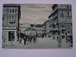 ISTRIA CROAZIA CARTOLINA DA FIUME PIAZZA DANTE FORMATO PICCOLO  VIAGGIATA - Croatia