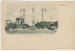 Bucuresti Piata Const. A Rossetti  75 Edit Adolph Maier  Undivided Back Tram - Roumanie