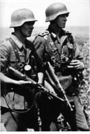 WW2 - Grenadiers Allemands Avec Leur MP 40 Schmeisser - 1939-45