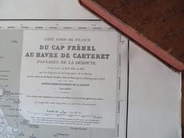Carte Marine : Cap Fréhel 22 - Hâvre De Carteret 50 SHM 1838 - Cartes Marines