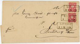 Nr. 33 A (2) Schöne MEF Aus LAUBAN Klarer Ra 2 Nach Friedbaerg - Lettres & Documents