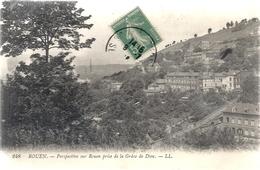 248. ROUEN . PERSPECTIVE SUR ROUEN PRISE DE LA GRACE DE DIEU . AFFR LE 8-7-1916 SUR RECTO - Rouen