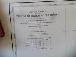 Carte Marine : Ile De Bréhat 22 - Cap Fréhel 22  SHM 1838 - Cartes Marines