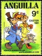 134 Anguilla Disney Horace Clarabelle Lapin Rabbit MNH ** Neuf SC (ANG-54b) - Konijnen