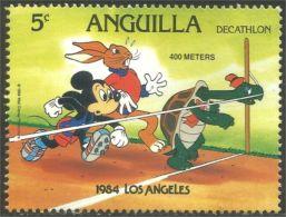 134 Anguilla Disney Los Angeles Olympics Mickey Rabbit Hare Lapin Hase MNH ** Neuf SC (ANG-81) - Konijnen