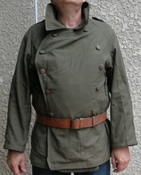 WW2 PALETOT MOTOCYCLISTE FRANCAIS MLE 1938 TOILE. - Uniforms