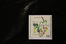 New Caledonia 549 Nature Protection IMPERFORATE Flora Flower Slight Crease UL MNH  1985 A04s - Ivory Coast (1960-...)