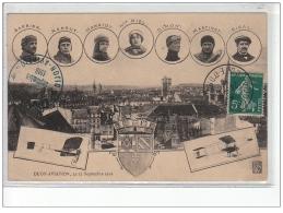AVIATION : (cachet) à DIJON 1910 (Hanriot - NIEL (aviatrice)) - Très Bon état - Meetings