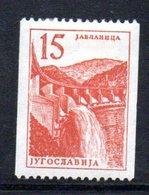 YUG86B - YUGOSLAVIA 1958, Serie Unificato N. 742 Linguellato  * Ordinaria - Nuovi