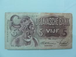 NETHERLANDS INDIES-5 GULDEN 1938 - Dutch East Indies