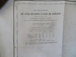 Carte Marine : Ile De Batz 29 - Ile De Bréhat 22  SHM 1843 - Cartes Marines