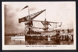 CPA AVIATION -  Carte PHOTO -HYDRAVION CAMS 56 De La CGA -Hydro-base De Marignane - Ligne Marseille-Alger  - AIR FRANCE - 1919-1938: Entre Guerres