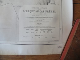 Carte Marine : Erquy 22 - Le Cap Fréhel 22  SHM 1941 - Nautical Charts