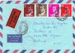 29252. Carta Aerea PLAYA SAN JUAN (Tenerife) 1982, Fechador Playa De Los Cristianos - 1931-Heute: 2. Rep. - ... Juan Carlos I