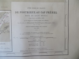 Carte Marine : Portrieux 22 - Cap Fréhel 22  SHM 1836 - Nautical Charts