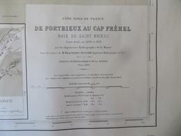 Carte Marine : Portrieux 22 - Cap Fréhel 22  SHM 1836 - Cartes Marines