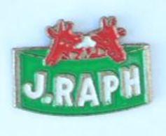 Pin's Humouristique J.RAPH -  Têtes De GIRAFES Rouges - Pins'up - H201 - Trademarks
