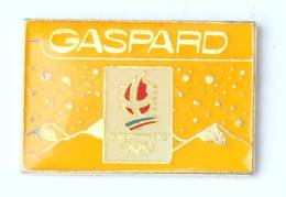 Pin's Officiel GASPARD Couleur Jaune - Logo Des JO Albertville 92 - Cojo- H212 - Olympic Games