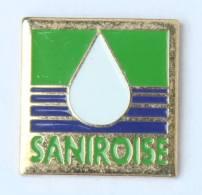 Pin's SANIROISE - Le Logo - Goutte D'eau - Artakys - H213 - Trademarks