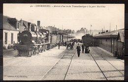 CPA 50 - CHERBOURG  ( CH408 )  Gare Maritime Train Transatlantique - Cherbourg