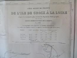 Carte Marine : Ile De Groix à La Loire  SHM 1916 - Nautical Charts
