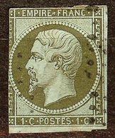 EXTRA NAPOLEON N°11a 1c Bronze Oblitéré Losange Cote 100 Euro PAS D'AMINCI - 1853-1860 Napoléon III