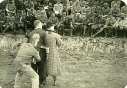 France WWI Sur Le Front Cirque Numéro De Clowns Ancienne Photo 1917 - War, Military