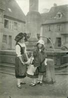 France WWI Libération De L'Alsace Costumes Traditionnels Ancienne Photo 1918 - War, Military