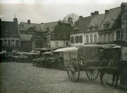 France WWI Saint-Pol-sur-Ternoise Place Du Marche Aux Grains Ancienne Photo 1917 - War, Military