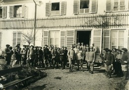 France WWI Wesserling General Nollet & Officiers Italiens Ancienne Photo 1917 - Guerre, Militaire