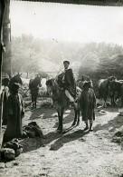 France WWI Marne Spahis Au Cantonnement Chevaux Ancienne Photo 1918 - War, Military
