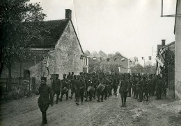 France WWI Marne Cantonnement De Tirailleurs Algériens Ancienne Photo 1917 - War, Military