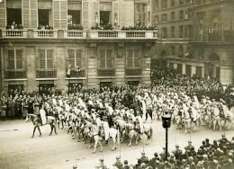 France WWI Paris Defilé De La Victoire Spahis Chevaux Ancienne Photo 1919 - War, Military