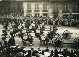 France WWI Paris Defilé De La Victoire Artilleurs Canons Ancienne Photo 1919 - War, Military