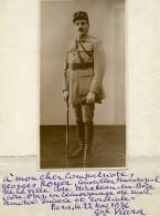 General René Louis Viard Dedicace A Georges Royer De Mirebeau Ancienne Photo 1936 - Guerre, Militaire