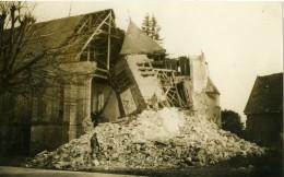 France Première Guerre Mondiale Eglise Detruite Destruction Ancienne Photo 1918' - War, Military