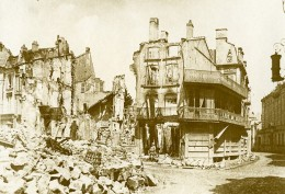 France Verdun Ruines Café Du Balcon Première Guerre Mondiale Ancienne Photo 1916 - War, Military