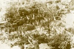 France Verdun? En Ruines Destruction Vue Aerienne WWI Ancienne Photo 1916 - War, Military