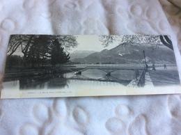 CPA Double - Annecy - Le Pont Des Amours Et Le Parmelon - Annecy