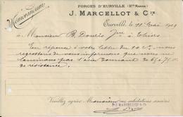 EURVILLE MARCELLOT FORGE D EURVILLE MEMORANDUM ANNEE 1909 - Non Classificati